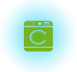 Wash Icon Blue